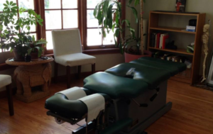 chiropractic table drops at the neck abdomen and pelvis