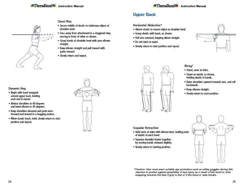 Theraband Exercise Information for Patients and Consumers Page 24-25 Chest and Upper Back Exercises