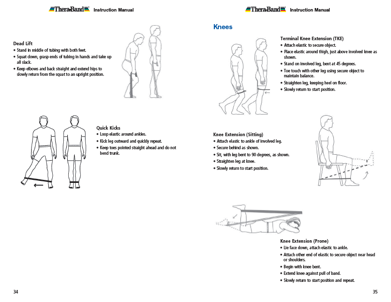 Resistance band exercises absolute health incorporated hip and knee exercises ccuart Image collections
