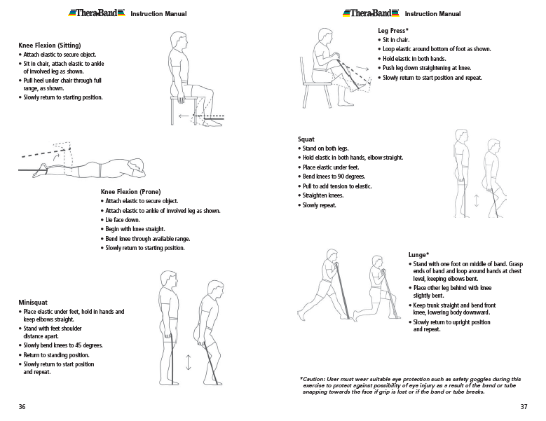 Resistance band exercises absolute health incorporated theraband exercise information for patients and consumers page 36 37 knee exercises ccuart Image collections