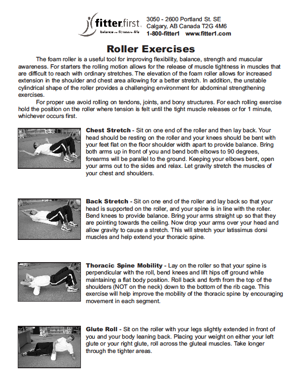 fitterfirst Foam Roller Exercises Page 1