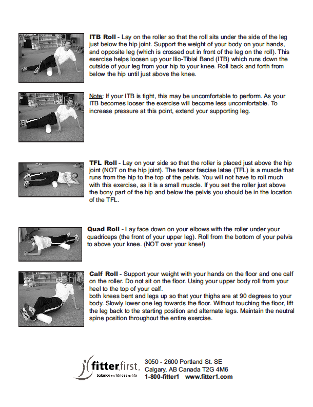 fitterfirst Foam Roller Exercises Page 3
