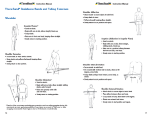 Theraband Exercise Information for Patients and Consumers Page 16-17 Shoulder