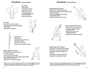Theraband Exercise Information for Patients and Consumers Page 18-19 Shoulders