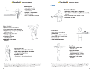 Theraband Exercise Information for Patients and Consumers Page 22-23 Arms and Chest Exercises