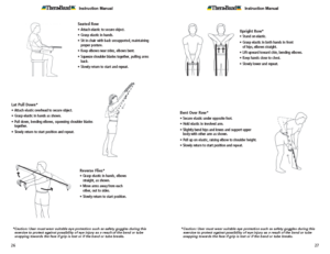 Theraband Exercise Information for Patients and Consumers Page 26-27 Chest Exercises