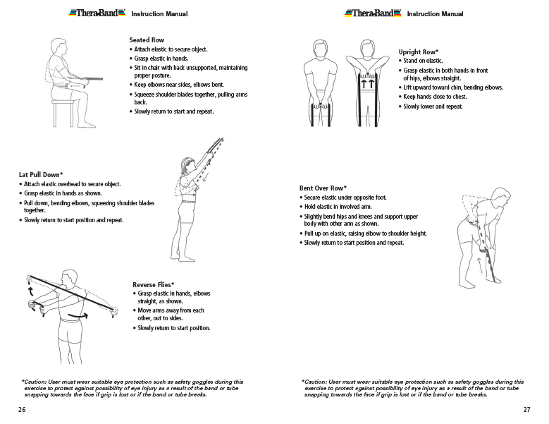 Theraband Exercise Information For Patients And Consumers Page 26 27 Absolute Health Incorporated