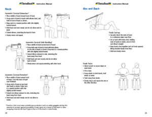 Theraband Exercise Information for Patients and Consumers Page 28-29 Neck Abs and Back Exercises