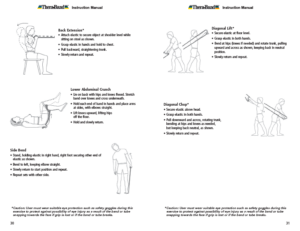 Theraband Exercise Information for Patients and Consumers Page 30-31 Abs and Back Exercises
