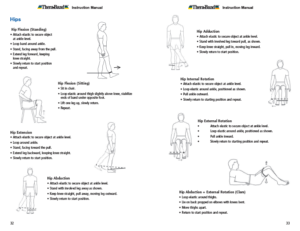 Theraband Exercise Information for Patients and Consumers Page 32-33 Hip Exercises
