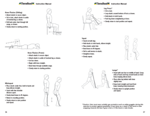 Theraband Exercise Information for Patients and Consumers Page 36-37 Knee Exercises