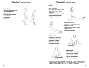 Theraband Exercise Information for Patients and Consumers Page 38-39 Knee and Ankle Exercises