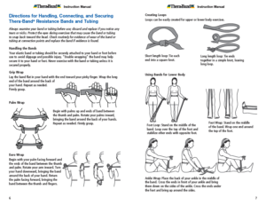 Theraband Exercise Information for Patients and Consumers Page 7-8 Directions for Handling Resistance Bands