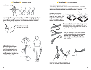 Theraband Exercise Information for Patients and Consumers Page 8-9 Directions for Handling Therabands